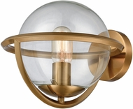 Dimond 1141-091 Sun Dog Modern Aged Brass With Clear Glass Sconce Lighting