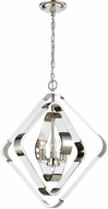 Dimond 1141-095 Rapid Pulse Modern Polished Nickel With Clear Acrylic Mini Lighting Chandelier