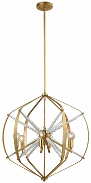 ELK Home 1142-012 Mercury Contemporary Antique Gold Leaf Lighting Pendant