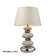 Dimond 3948-1 Elemis Modern White & Chrome Stack Table Top lamp - 23 Inches Tall