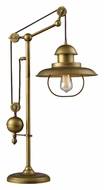Dimond 65100-1 Farmhouse Antique Brass Finish 32 Inch Tall Table Top Lamp