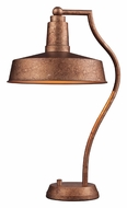 Dimond 65132-1 Walden 22 Inch Tall Bellwether Copper Finish Desk Lamp