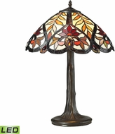 Dimond 72080-1-LED Brimford Tiffany Dark Bronze LED Table Top Lamp