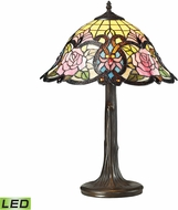 Dimond 72081-1-LED Rosedale Tiffany Dark Bronze LED Side Table Lamp