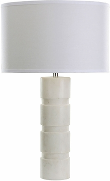 ELK Home 8989-002 Contemporary White Marble Table Top Lamp