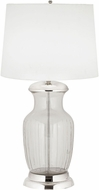Dimond 8991-004-LED Contemporary Clear Glass / Polished Nickel LED Table Top Lamp