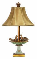 Dimond 91-786 Love Birds In Bath Gold Leaf Finish 25 Inch Tall Table Top Lamp