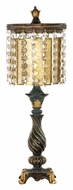 ELK Home 93-090 Amber And Crystal Antique Style 21 Inch Tall Bed Lamp