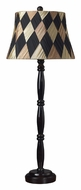 Dimond 93-9136 Lufin Dark Mahogany Woven Shantung Shade Table Lamp Lighting