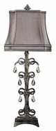 Dimond 93-9230 Castello 37 Inch Tall Living Room Table Lamp With Faux-Silk Shade