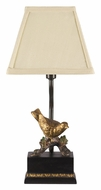 Dimond 93-938 Perching Robin 14 Inch Tall Gold Leaf & Black Bed Lamp