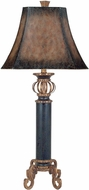 Dimond 96-634 Iron Footed Column Crackled Black Side Table Lamp