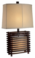 Dimond D1419 Burns Valley Espresso Wood Finish 15 Wide Table Top Lamp