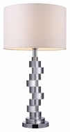 Dimond D1480 Armagh Contemporary Clear Crystal And Chrome Finish 15.5 Wide Table Light