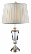 Dimond D1808 Billings Polished Nickel 26 Inch Tall Lighting Table Lamp