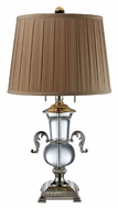Dimond D1810 Raven 27 Inch Tall Traditional Clear Crystal Lamp