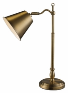 ELK Home D1837 Hamilton Antique Brass 19 Inch Tall Desk Lamp - Transitional