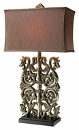 Dimond D1843 Brinkhaven Clearwater Silver Traditional Ornate Table Lamp