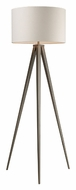 ELK Home D2121 Salford 61 Inch Tall Satin Nickel Tripod Floor Lamp - Contemporary
