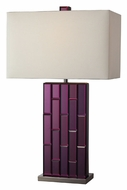 Dimond D2162 Avalon 27 Inch Tall Purple Mirror Bed Room Table Lamp