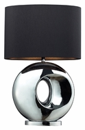 Dimond D2236 Tobermore 25 Inch Tall Deep Chrome Ring Table Lamp Light