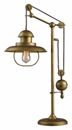 ELK Home D2252 Farmhouse Antique Brass 32 Inch Tall Vintage Style Desk Lamp