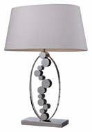 Dimond D2323 Sidney Modern Style Chrome Finish 27 Inch Tall Table Lamp