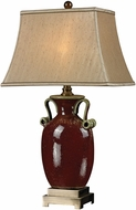Dimond D2405 Aldell Rosebury Red / Antique Brass Table Top Lamp