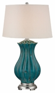 Dimond D2453 Pewsey Tallahassee Teal Finish 35 Tall LED Lighting Table Lamp