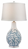 Dimond D2478 Sixpenny Pale Blue With White Finish 16 Wide LED Table Lighting