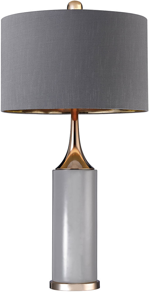 Grey Gold Led Side Table Lamp