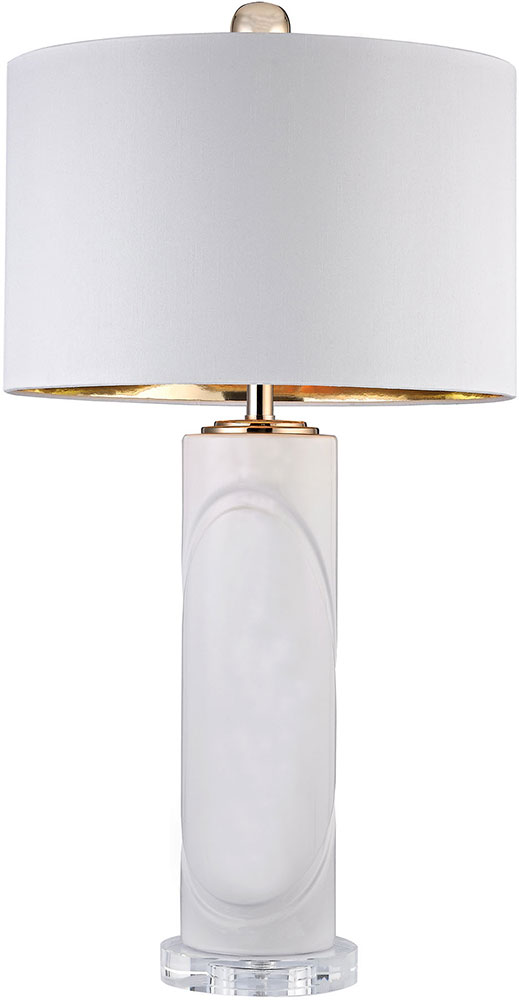 Dimond D2752 Modern Gloss White / Gold Table Lamp Lighting. Loading Zoom