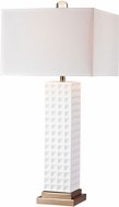 Dimond D2758 Modern Gloss White / Gold Table Top Lamp