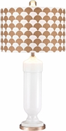 Dimond D2759-LED Contemporary Gloss White / Gold LED Table Light