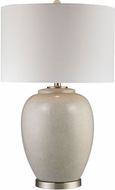 Dimond D2810 Light Grey Crackle Table Lamp Lighting