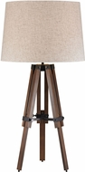 Dimond D2816-LED Contemporary Walnut / Oil Rubbed Bronze LED Table Lamp