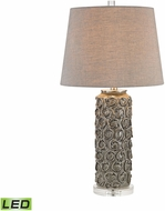 Dimond D2919-LED Rosette Grey Glaze LED Lighting Table Lamp