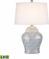 Dimond D2920-LED Aragon Blue And White Glaze LED Table Top Lamp