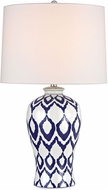 Dimond D2921 Kew Blue And White Glaze Side Table Lamp