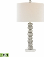 Dimond D3046-LED New Caledonia Silver Leaf / White Marble LED Table Lighting