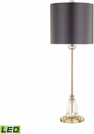 Dimond D3080-LED Constance Clear / Gold Plate LED Lighting Table Lamp