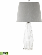 Dimond D3090-LED Sochi  Polished Nickel / White Faux Marble LED Table Top Lamp