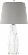 Dimond D3090 Sochi  Polished Nickel / White Faux Marble Table Lamp Lighting