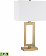 Dimond D3124-LED Dromos Modern Antique Brass LED Table Lamp