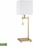 Dimond D3128-LED Gower Street Modern Antique Brass LED Side Table Lamp