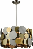 Dimond D3132 Prizzi Contemporary Pewter / Gold / Antique Brass Pendant Lighting Fixture