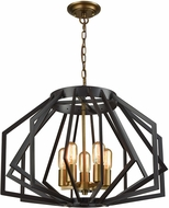 ELK Home D3133 Fluxx Modern Bronze Chandelier Lamp