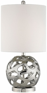 Dimond D3137 Genesis Contemporary Chrome Polished Nickel Table Top Lamp