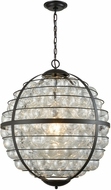 Dimond D3148 Skorpius Modern Oil Rubbed Bronze / Clear Pendant Hanging Light