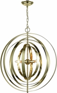 Dimond D3150 Synchrony Contemporary Gold Plate Mini Ceiling Chandelier